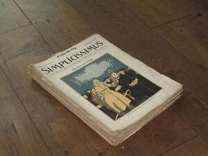 """29x Zeitschriften """"Simplicissimus"""" 1906-1910"""