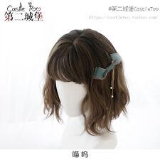 Gótico Harajuku Sweet Lolita Juegos con disfraces Peluca de gradiente de marrón diario corta pelo rizado #