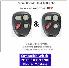 97 98 99 00 Pontiac Montana keyless remote entry control OEM controller LOT OF 2