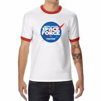 Funny Space Force Men's T-Shirts Ringer Short Sleeve Cotton Summer Cool Tops Tee