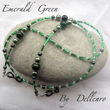 ✫ ✫ Verde Esmeralda Con Cuentas Cadena Gafas Gafas Gafas Soporte Cable