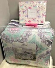 NEW! 10 pc FULL SIZE Comforter & Sheet SET Medallion Unicorn Envogue Pink Purple