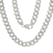 "10k White Gold Solid Cuban Curb Link Chain Necklace 30"" 9mm  67-70 grams"