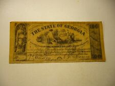 1864 THE STATE OF GEORGIA 100 DOLLARS COPY FAKE NOTE