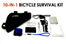 NEW! 10-in-1 Emergency Bike Survival Kit - Bicycle Cycling Survival Bugout Bag