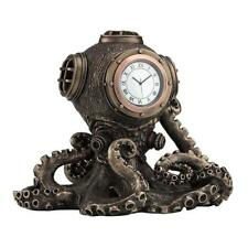 Steampunk Octopus Diving Bell Clock - Animal Statue