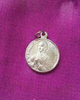 Vintage Antique 1900s Silver Saint Bernadette Religious Protection Charm Pendant