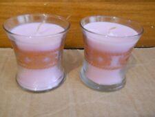 Nib Two PartyLite Bestburn Mini Barrel Jar Candles P9572 Vhtf Strawberry Rhubarb