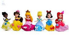 6pcs Disney Princess Mini Dolls Resin Character Figures Toy Miniature 85mm *55mm