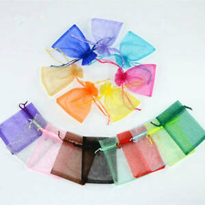 10/30PC Organza Drawstring Bags Jewelry Packaging Bag Candy Wedding Gift Pouches