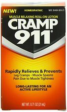 Cramp 911 Muscle Relaxing Roll-on Lotion, Net Wt. 0.71 oz  (PACK OF 2) NEW