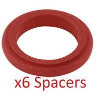 6 rojos 17mm x 20mm Separadores De Rueda aleación Prokart Cadete UK Kart Store