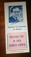 SENATOR TED STEVENS  AUTOGRAPH ~ Signed Vintage Washington DC Visitors Guide
