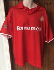 Deportivo Toluca Futbol Club Football Jersey Men's Size 46 XXL Soccer Mexico