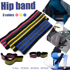 3Pcs Hip Band Elastic Resistance Loop Bands Yoga Exercise Gym Fitness Workout Q