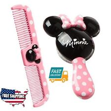 Home Bath Baby Girl Kids Toy Disney Minnie Hair Brush Comb Set Personal Care Fit