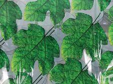 "Waterware Fig Leaves Shower Curtain Water Drape 72"" x 72"" Vinyl"