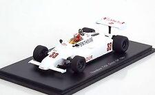 SPARK S4316 1/43 F1 THEODORE TY01 MARC SURER DUTCH GP1981