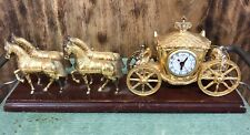 United Clock Corp 640 four horse and Cinderella carriage clock, circa 1940's
