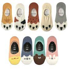 4-5 Pairs Women No Show Fashion Low Cut Cotton Socks Silicon Tab Size 9-11
