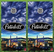 Peterbilt Truck Cornhole Wrap Decals Bag Toss 3M Vinyl 24x48 Fast Shipping