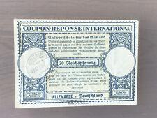 COUPON RESPONSE INTERNATIONAL GERMANY Bremen 1938