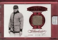 BABE RUTH FLAWLESS GAME USED JERSEY CARD #d17/20 2017 PANINI GREATS NY YANKEES
