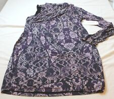 Guess Women's Long Sleeve One Shoulder Hope Dress Tempest Lace Navy Size XL New
