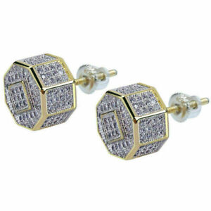 1 Pair Fashion Men's Unisex Crystal Rhinestone Ear Stud Earrings Bridal Jewelry