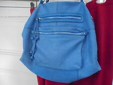 SORIAL lg lambskin leather slouch hobo shoulder bag Sky Blue Preowned Clean Nice