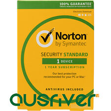 Symantec Norton Internet Security Standard 2017 Antivirus 1 User 1 Year PC MAC