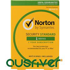 Symantec Norton Internet Security Standard 2017 Antivirus 1 User 1 Year PC MAC