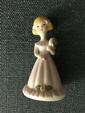 "Enesco 1982 Growing Up Birthday Girls ""Age 5� Ln Blond Hair"