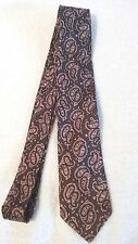 "Men's Paisley Design Skinny Necktie  Purple Color Tie Polyester 54"" Length"