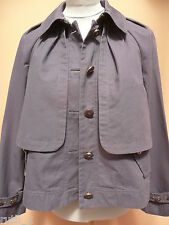 NEUF origine JUICY COUTURE Crop trench manteau taille S Small Violet Veste Bleu 6 8