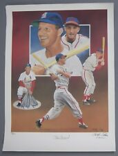 STAN MUSIAL SIGNED AUTO AUTOGRAPH PALUSO LITHOGRAPH LTD. 91/475 MUSIAL LOA