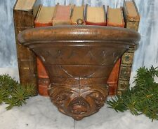 Antique Black Forest Carved Wood German Wood Corbel Shelf Bracket Wall Mount