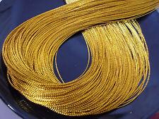 90m 1mm Braided Non-Elastic Beading Metallic Jewelry Cord String - GOLD / GOLDEN