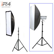 Photo Studio Softbox 20x90cm with Bowens Mount for Strobe + 195cm light stand
