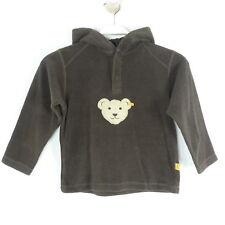 STEIFF Fleece Pullover Hoodie Braun Gr. 110