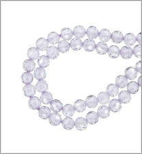 16 Cubic Zirconia Round Beads 4mm Lavender #64748