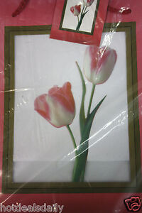 12PC LARGE GIFT BAG FLORAL DESIGN WITH CLEAR WINDOW IN FRONT ALL OCCASION WRAP