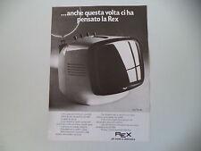 advertising Pubblicità 1972 TELEVISORE REX 9 POLLICI