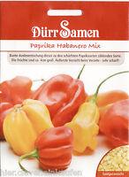 Habanero Mix Paprika sehr scharf 30 Korn Dürr Samen Vorsicht sehr scharf
