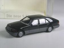 Klasse: Wiking Werbemodell Mercedes S-Klasse W 140 schwarz in OVP