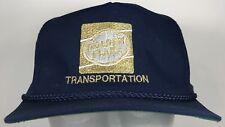 Vtg 80s Golden Flake Transportation Hat Cap Snapback Navy Golden Logo