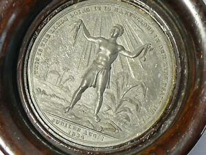 1834 Extinction of Colonial Slavery British Dominions William IV Medal Framed