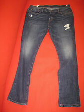 Abercrombie & Fitch Men Jeans Sz   36 x 32 Destroyed Super Skinny Dark Wash New