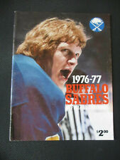 1976-77 Buffalo Sabres Yearbook NHL Jim Schoenfeld Cover