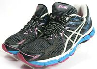 Asics GT-2000 $89 Women's Running Shoes Size 9 Black Blue Pink